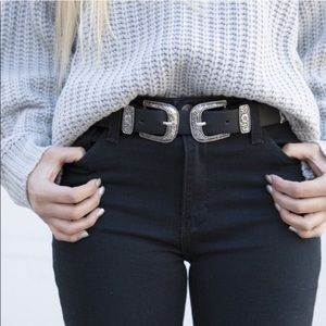 Accessories - 🌿SILVER DOUBLE BUCKLE BELT🌿